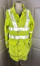 "Hi Viz Workmans Jacket 44"" Chest Small Worn Used Builder Contractor Rustling"
