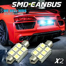 2x 36mm 6 Led Smd Canbus Error Free C5w Blanco Audi A4 A3 A6 S3 placa de matrícula
