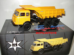 Norev Henschel Hs 3-180 Tak 6X6 Benne Meiller Yellow 1956 to the / Of 1 /43°