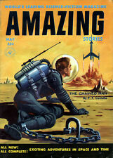 Amazing Stories ED VALIGURSKY COVER The Chained Man P F COSTELLO Paul W. Fairman