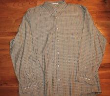 Jhane Barnes Woven In Japan Brownish Colorful Dress Shirt Large