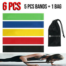 Set of 5 Resistance Exercise Loop Bands Home Gym Yoga Fitness Latex Non Slip