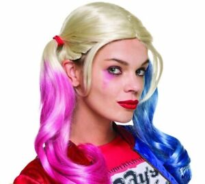 Suicide Squad Harley Quinn Pig Tail Wig Fancy Dress Costume Accessory Official