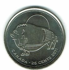 2011 Canadian Brilliant Uncirculated Commemorative Wood Buffalo 25 Cent coin!