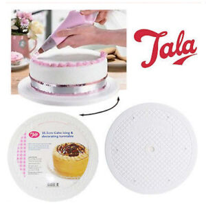 """Rotating Icing Turntable Decorating Revolving Stand Display Cake Round 10"""" Stand"""