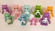 Lot of 9 Mini Care Bears Play Figures
