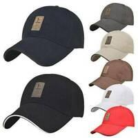Plain Snapback Blank Solid 100% Cotton Adjustable Hat Cap Baseball SUMMER CAP_AU
