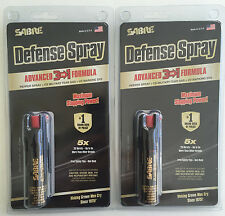 2 Sabre PEPPER SPRAY 3 &1 Self Defense Police Pocket Unit USA Made FREE SHP P-22