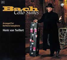BACH : CELLO SUITES - ARRANGED FOR BARITONE-SAXOPHONE, HENK VAN TWILLERT / 2 CD