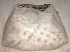 LAURA di MAGGIO Perforated Off White XL Hobo Handbag-VERY NICE