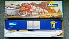 HO Scale Athearn Blue Box 86 Ft Auto Parts Boxcar. Model Railroader 65th anniv.