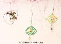Konvolut 3x GABLONZ Ornamente alter Christbaumschmuck aus Glas 1950er Jahre  #6