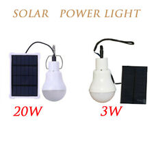 Portable Bulb Outdoor Solar Power Emergency Lights LED LightSystem Indoor US