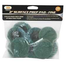 "10pc 2"" FINE Surface Prep Pads 1/4"" Roloc Grinding Stripping, Paint/Rust 82070"