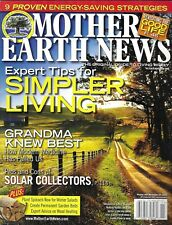Mother Earth News Magazine Simpler Living Solar Collectors Wood Heating Beer