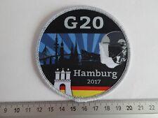 G20 Police patch Hamburg Germany Polizei Abzeichen Deutschland