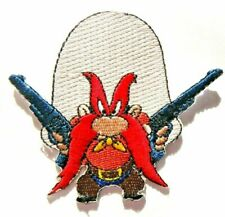 """Yosemite Sam """"Back Off"""" (Looney Tunes) Embroidered Patch -new"""