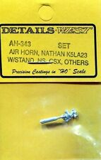 HO SCALE:  DETAILS WEST  343:  NATHAN AIR HORN...K5LA23
