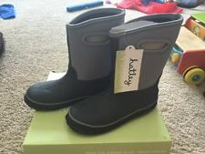 NEW Hatley Boys Grey All Weather Fall Winter Splash On Boots Shoes 3