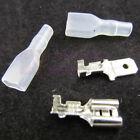 80pcs 6.3mm Crimp Terminal Female Spade Connector + Male Spade Connector+ Case
