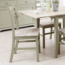 Florence Kitchen Dining Chair, Sage Green Country style chair with wooden seat