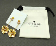 NWT Authentic Kate Spade Pick A Posy Linear Earrings Gold $78
