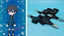 1 Pair Black Butler Kuroshitsuji Ciel Phantomhive Cosplay Garters Suspenders