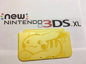 2015 New 3DS XL LL  Part Yellow Pikachu Top Outside cover Shell/Housing
