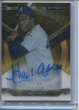 2015 TOPPS STRATA HANK AARON ON CARD AUTOGRAPH 13/25 ATLANTA BRAVES