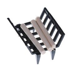 1/12 Dollhouse Furniture Fireplace Model Metal Rack with Firewood Living Room KY
