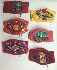 Face Mask Mexican Embroidered Handmade In Mexico , Cotton