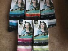 Ladies/girls cotton socks, by Leonfit sizes 3-5 or 5-7,stripes