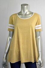 LuLaRoe Yellow & White Perfect  Scoop Raglan Stretch T Shirt Top Soft NEW tonic