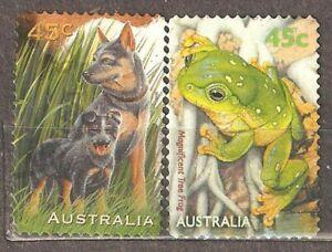 Australia: full set of 2 used stamps, pets, 1996, Mi#1603-4