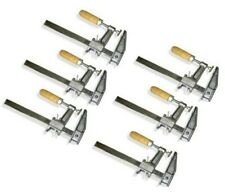 "Set of 6 - 36"" Bar Clamps Heavy Duty Wood Handle Woodworking Carpenter Tool"