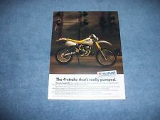 "1990 Suzuki DR250 DR350 Vintage Dirt Bike Ad ""The 4-Stroke That's Really Pumped"""