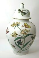 Colorful Butterfly Ginger Jar Japanese Porcelain Ware