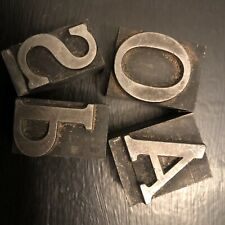 Vintage Linotype 4 Letters Great Shape Type Size 1 18
