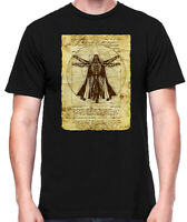 Star Wars Vitruvian Darth Vader Old Art Black Men's T-Shirt New