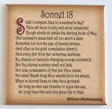 Sonnet 18 FRIDGE MAGNET (3 x 3 inches) William Shakespeare