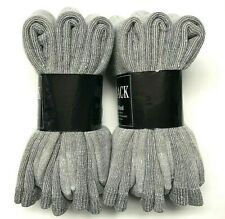 Premium 6 Pairs Gray 34% Merino Wool, 34%Acrylic, Thermal Crew Sock SZ 10-13.