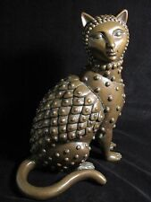 Sergio Bustamante Signed Bronze Cat Sculpture Limited Edition #28 of 100 RARE!!