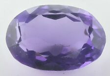 LARGE 17x11.5mm OVAL-FACET DEEP-PURPLE NATURAL AFRICAN AMETHYST GEM (APP )