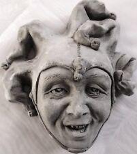 Jester Joker Mask Hanging Sculpture, Beautiful Art Value for Home and Garden