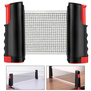 Tragbar Tischtennisnetz Tischtennis Netz ausziehbar PingPong Teleskop Fitness