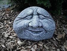 Steinfigur Steingesicht  Frostfest Steinguss Garten Deko Wasserspeier