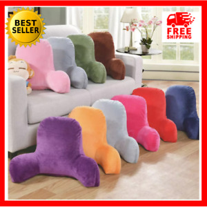 Large Sofa Pillows Cushions Back Rest Bed Plush Reading Lumbar Support Chair