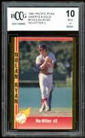 1991 Pacific Ryan Inserts Gold #3 Nolan Ryan Card BGS BCCG 10 Mint+