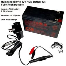 Humminbird 9Ah 12V AGM Marine Battery Kit With New Leak-Proof Design (73264)