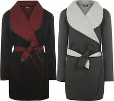 Plus Size Knee Length No Pattern Women's Coats & Jackets